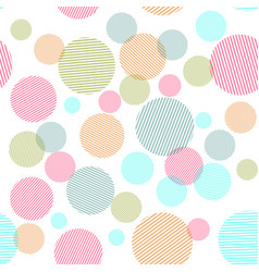 abstract seamless pattern with colorful circles vector image