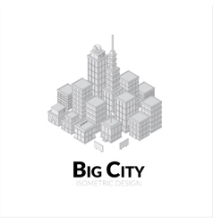 Aerial view big city outline design vector