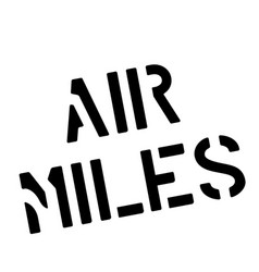 Air miles stamp on white vector
