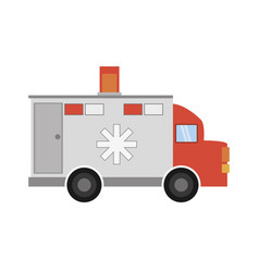 ambulance transport emergency icon vector image