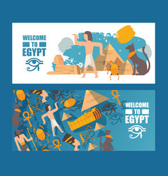 Ancient egypt travel banner vector