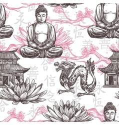 Asian seamless pattern vector
