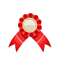 award medal with red ribbon vector image