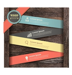 Banner on wood background vector