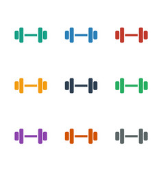 Barbell icon white background vector