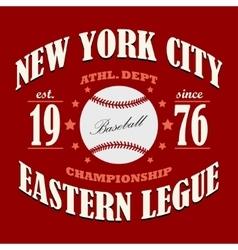 Baseball t-shirt graphic design vector image