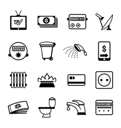 Bills icons vector