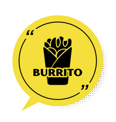 Black burrito icon isolated on white background vector