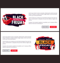 black friday sale off promo stickers advertisings vector image