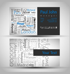 Business-card front and back with european vector