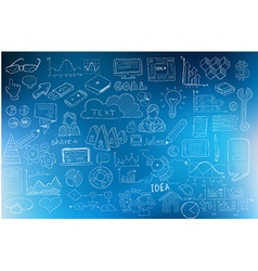 Business development concept background wig doodle vector