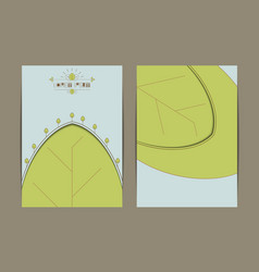 Business eco card template vector