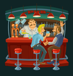 Cartoon of friends drinking whiskey vector