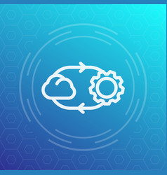 cloud technology line icon vector image