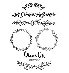 collection hand-drawn design elements vector image