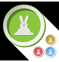 Color icons with Easter bunny vector