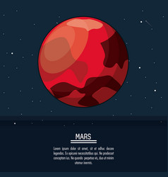 colorful poster with planet mars vector image