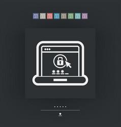 computer password vector image
