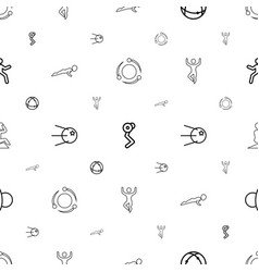 Core icons pattern seamless white background vector