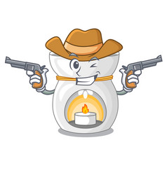 Cowboy aroma lamp in a cartoon versions vector