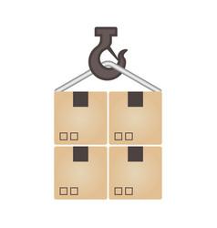 crane hook icon vector image