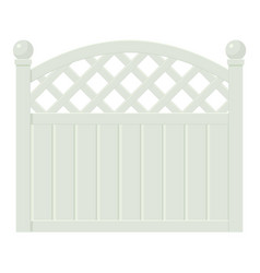 Decorative fence icon cartoon style vector