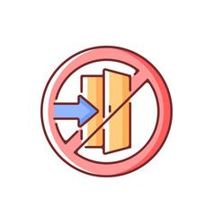 Do not enter rgb color icon vector