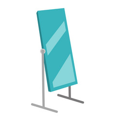 Dressing mirror on stand vector