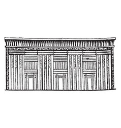 egyptian sarcophagus or tomb of stone stone chest vector image