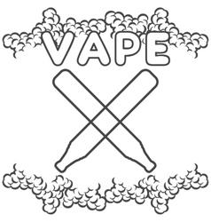 Emblem or logo electronic cigarette vector