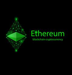 Ethereum classic black vector