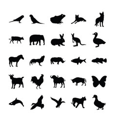 Filled icon design animals vector