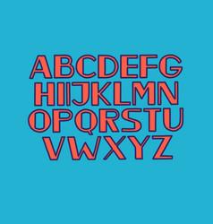 Font alphabet type uppercase letters vector