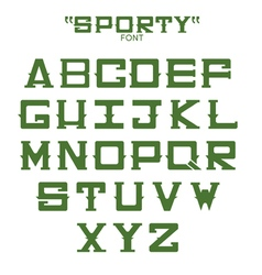 Font of sports theme vector image