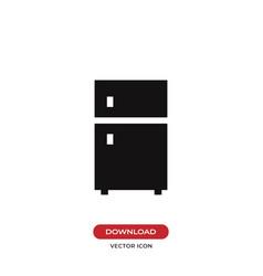 fridge icon refrigeratorfreezer symbol vector image