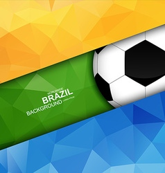 Geometric football design vector