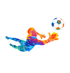 Goalkeeper ball abstract vector