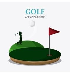 Gold design sport icon Colorfull vector image