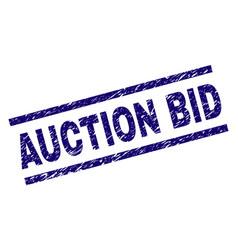 Grunge textured auction bid stamp seal vector