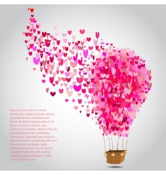 happy valentines day cards with air balloon vector image