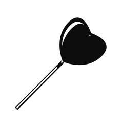 heart lollipop icon simple style vector image