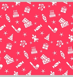 Holiday seamless pattern background vector