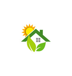 house shine eco environment logo vector image vector image