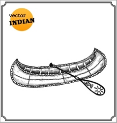 Indians canoe vector image