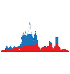 isolated cityscape of moscow vector image