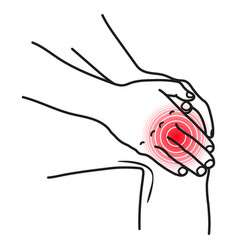 Knee pain icon injured physical accident symptom vector