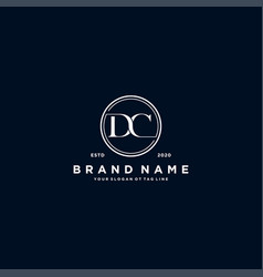 Letter dc logo design vector