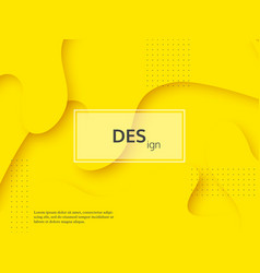 liquid abstract yellow and white background vector image