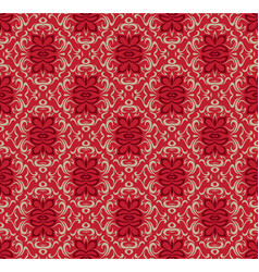 luxury red seamless decorative pattern design vector image