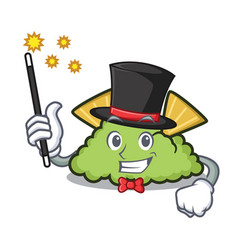 Magician guacamole mascot cartoon style vector
